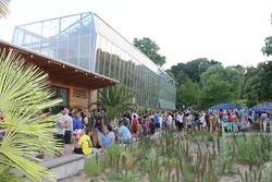 Visitors to the International Evening at the Botanic Garden in Würzburg