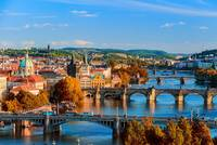 Picture of bridges in Prague