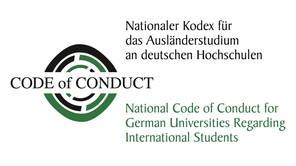 Logo of the National Code of Conduct for German Universities regarding International Students